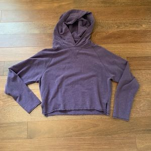 Lululemon Purple Cropped Hoodie